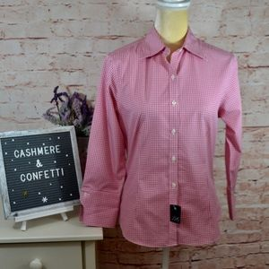 Brooks Brothers 346 NEW Pink Check Fitted Shirt A4